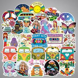 Lot 100 Hippie Laptop Skateboard Stickers Bomb Vinyl Luggage