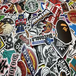 Lot 100 Random Skateboard Stickers Vinyl Laptop Luggage Deca