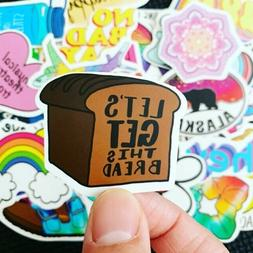 Lot 50 Baby Yoda vinyl Laptop Skateboard Hydoflask Stickers