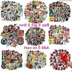 Lots Random Vinyl Laptop Skateboard Stickers bomb Luggage De