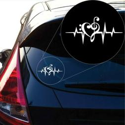 Love Music Heart Beat Decal Sticker for Car Window, Laptop a
