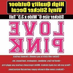 LOVE PINK Victoria Secret Vinyl Car Window Laptop Sticker De