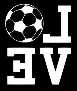 "Love Soccer | Vinyl Sticker Decal | 4.524"" Width X 5.5"" Heig"