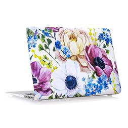 Coldel MacBook Air 13 Case Floral Pattern Rubberized Hard Ca