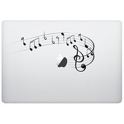 Macbook sticker decal - Music Notes Black - Cool creative sk