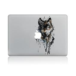 GTNINE MacBook Stickers Dark Wolf Sticker MacBook Decals Lap