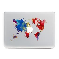 GTNINE MacBook Stickers World Map Sticker MacBook Decals Lap