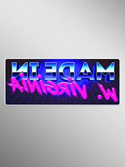Made In West Virginia 80s Font Vinyl Decals Stickers    Cars