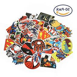 Cartoon Stickers, Echeer Superheroes PVC Waterproof Stickers