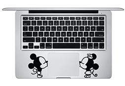 Mickey Minnie Kissing Trackpad Keyboard Apple Macbook Decal