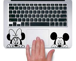 Mickey and Minnie Peeking Up Disney - Trackpad Apple Macbook
