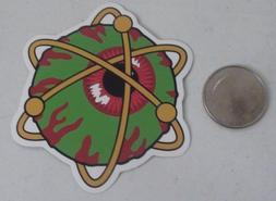mishka sticker x2 PCS   eyeball logo nucleus skate skateboar
