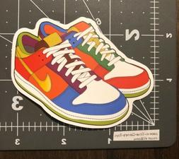 Multi Colored Nike Shoes Humor Skateboard Laptop Decal Stick