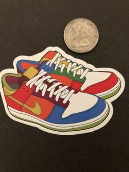 Multi Colored Nike Shoes Skateboard Cell Laptop Sticker