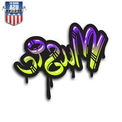 music graffiti sticker decal phone laptop car
