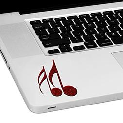 """Music Notes Laptop Trackpad Sticker 3"""" tall x 2"""" wide"""