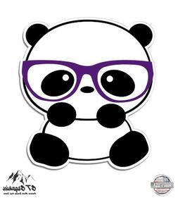 """Nerd Panda - 12"""" Vinyl Sticker Waterproof Decal"""