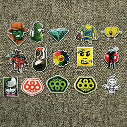 NEW 15 Stickers Decals Bumper Skateboard Laptop Luggage Spon