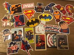 NEW 25 Lot Stickers MARVEL Super Hero DC For Car Laptop Note