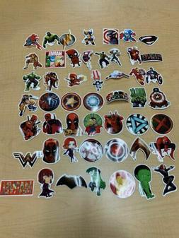 NEW 50 Lot Stickers MARVEL Super Hero Car Laptop Notebook De