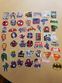 NEW 50 Lot Stickers MARVEL Super Hero DC For Car Laptop Note