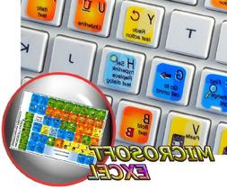 NEW MICROSOFT EXCEL KEYBOARD STICKERS FOR DESKTOP, LAPTOP AN