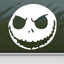Nightmare Before Christmas White Sticker Decal Jack Skelling