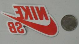 NIke sticker logo red skate cell laptop bumper decal
