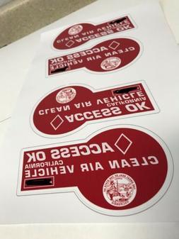 NOVELTY HOV Carpool Laptop Sticker Red  Seal Quality 3M Tesl