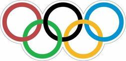 Olympic Rings  Sticker Decal Laptop Car Cornhole Wall Helmet