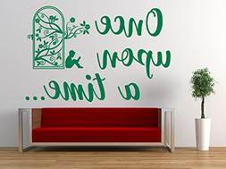 Once upon a time Quote, Vinyl Wall Art Sticker. Mural, Decal