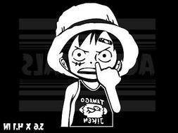 Funny Cute Laptop Car Window Vinyl decal sticker One Piece Luffy -? Anime