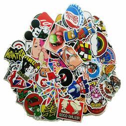 Pack of 100 Motorcycle Car Bumper Stickers Decals Vinyls Ran