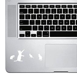 StickAny Palm Series 4 Cats Sticker for Macbook Pro, Chromeb