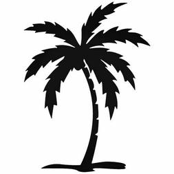 Palm Tree Decal Cartoon Vinly Sticker Laptop Car Window Blac