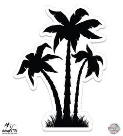 "Palm Trees Black Cute - 3"" Vinyl Sticker - For Car Laptop I-"