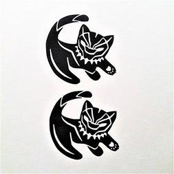 Chase Grace Studio Panther Cat  Vinyl Decal Sticker|BLACK|Ca