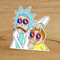 Parody Rick and Morty Grateful Dead Premium Vinyl Sticker De