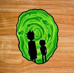 Parody Rick and Morty Green Portal Premium Vinyl Sticker Dec