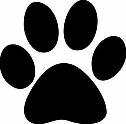Paw Print Vinyl Decal Bumper Sticker Car Window Dogs Pet Lap