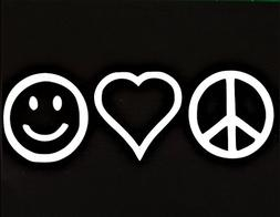 Chase Grace Studio Peace Sign Love Heart Be Happy Hippie Vin