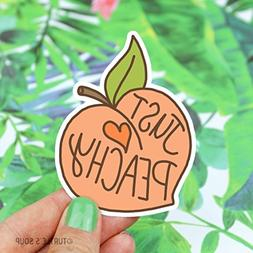 Peach Sticker, Just Peachy, Vinyl Stickers, Gift For Her, So