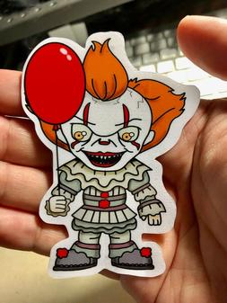 Pennywise Creepy Clown Chibi of IT Movie Laptop Sticker