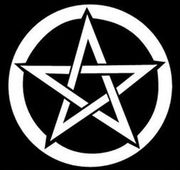 Pentagram Decal Wall Art Sticker Car Window Laptop Rock n Ro