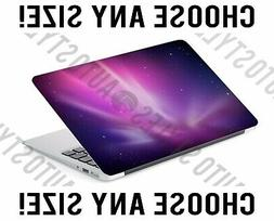 Pink Aurora Borealis Purple Sky Laptop Skin Decal Sticker Ta