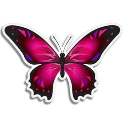 pink butterfly car laptop phone vinyl sticker