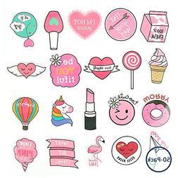 50PCS Pink Lollipop Laptop Sticker, Bosiwee Cute Pink Cartoo