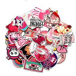 pink lollipop laptop sticker pack cute girl