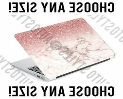FAUX Ombre Glitter Pink Marble Laptop Skin Decal Sticker Tab