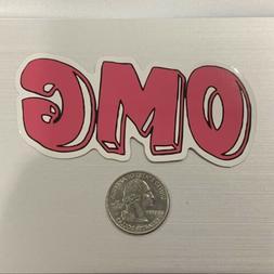 Pink OMG Sticker